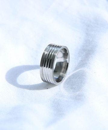 O.S Pattern Silver Ring