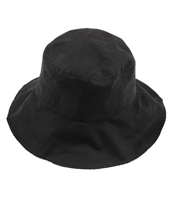 S.M black bucket hat