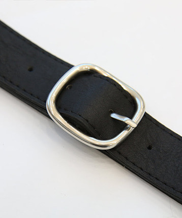 round rectangle buckle belt